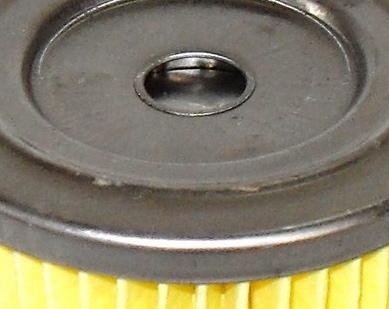 Válvula del filtro trancada